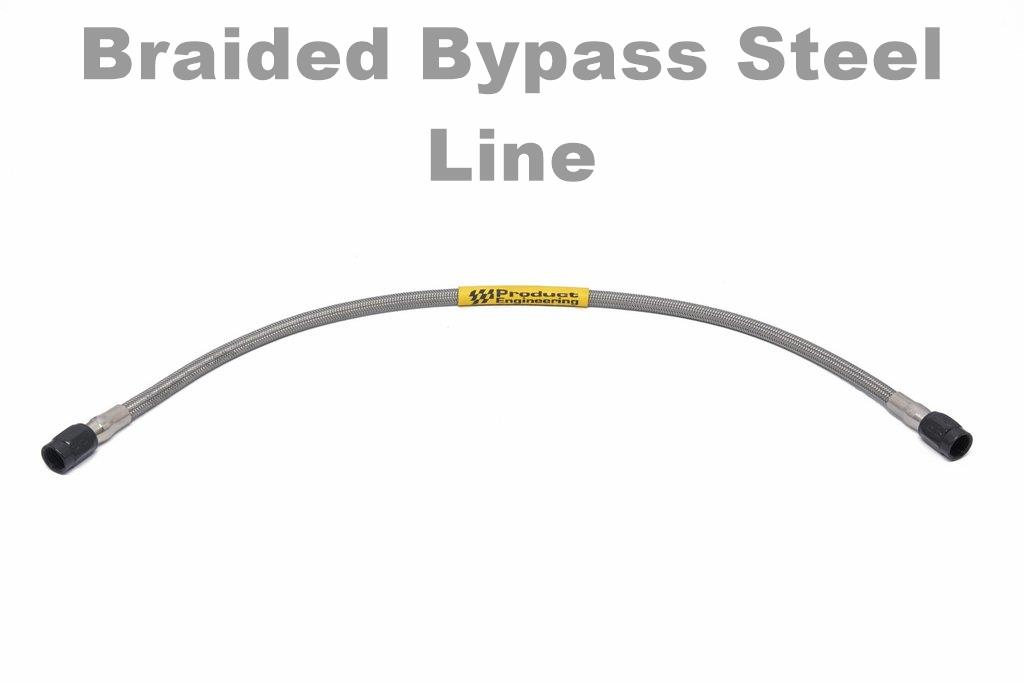 braided steel bypass hose
